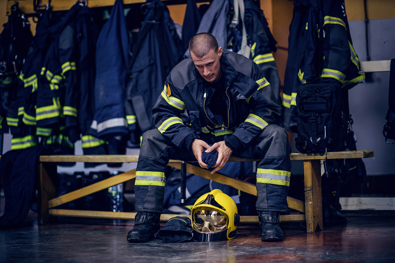 Firefighters in Portland, OR