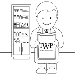 Frank the Pharmacist - coloring page