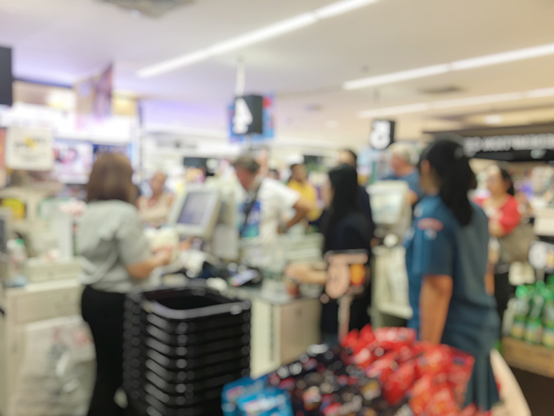 Grocery store workers are front line employees