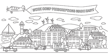 Happy Town - coloring page